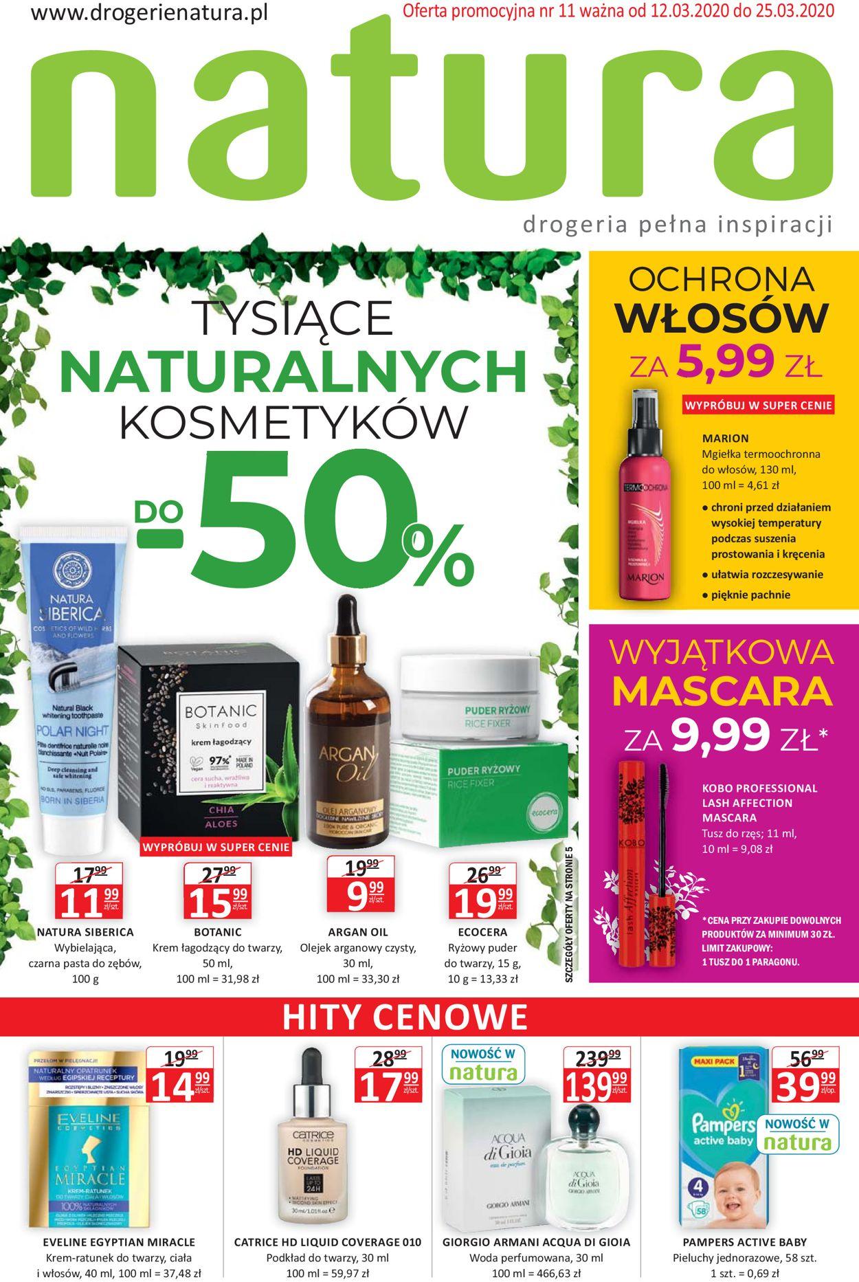 Gazetka promocyjna Natura - 12.03-25.03.2020