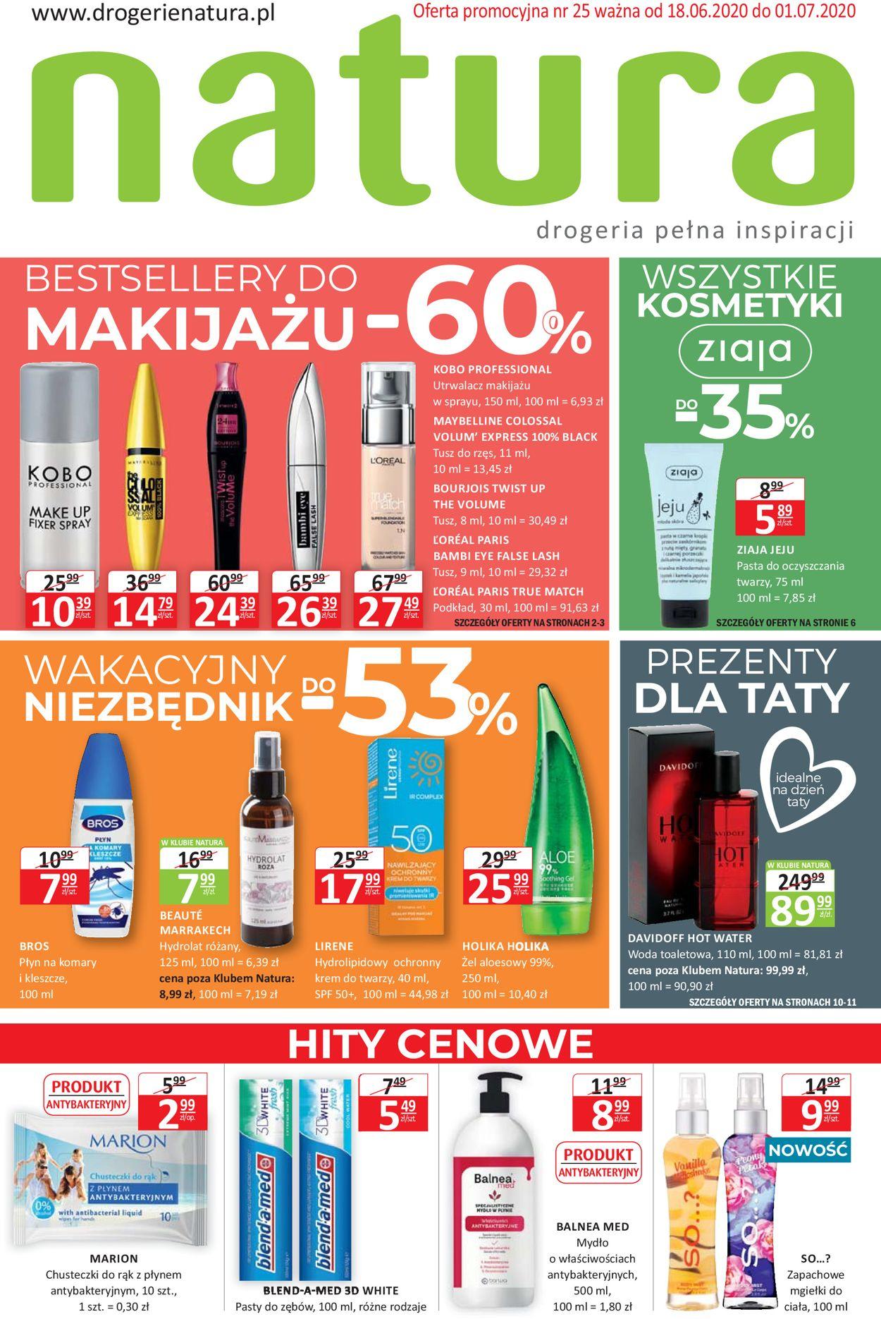 Gazetka promocyjna Natura - 18.06-01.07.2020