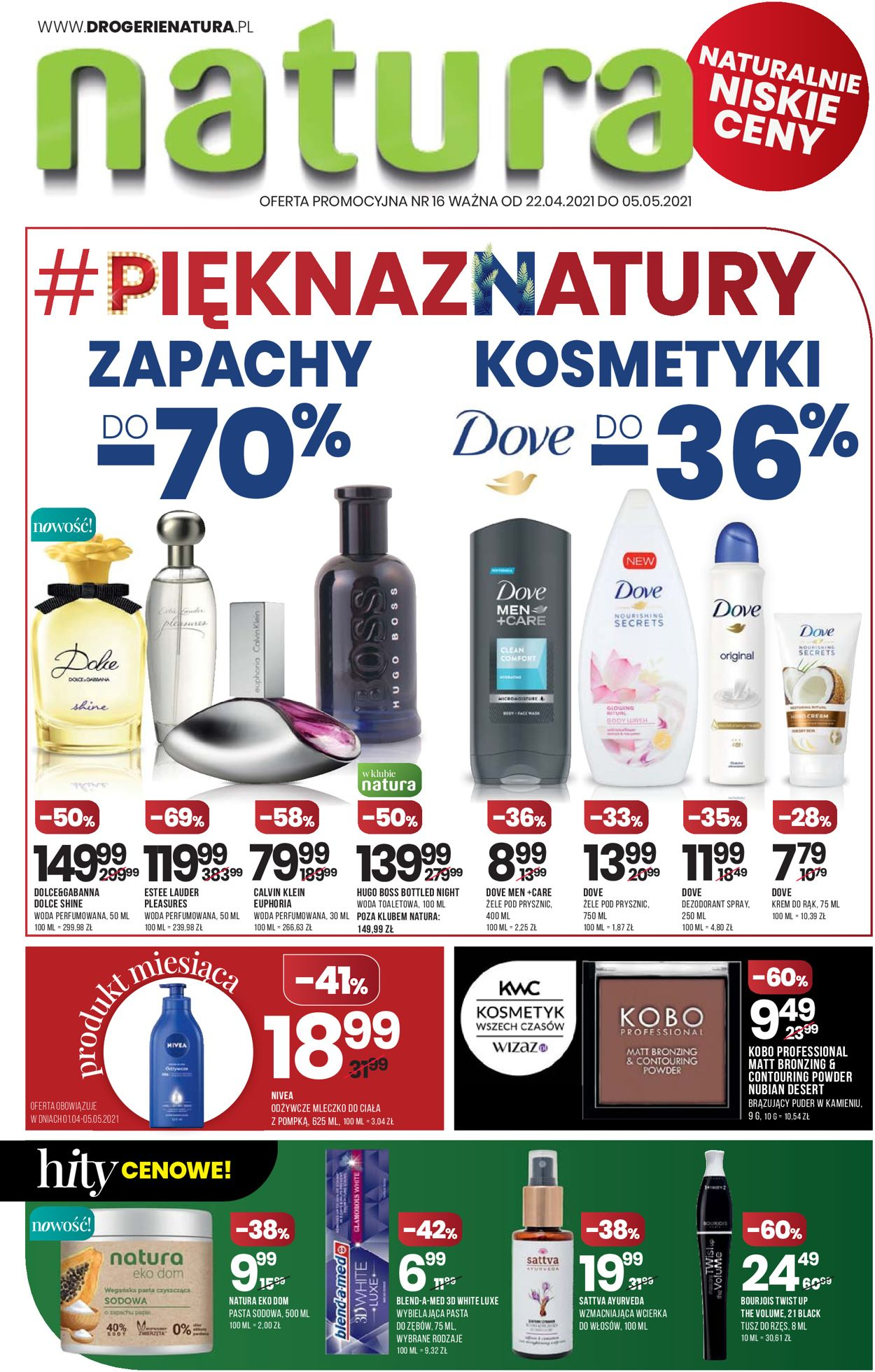 Gazetka promocyjna Natura - 22.04-05.05.2021