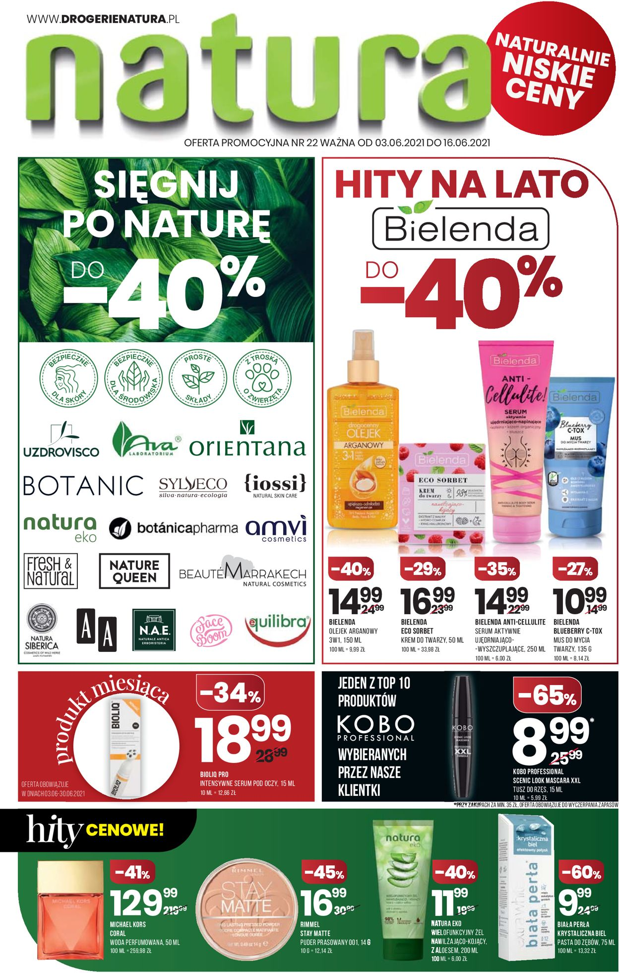 Gazetka promocyjna Natura - 03.06-16.06.2021