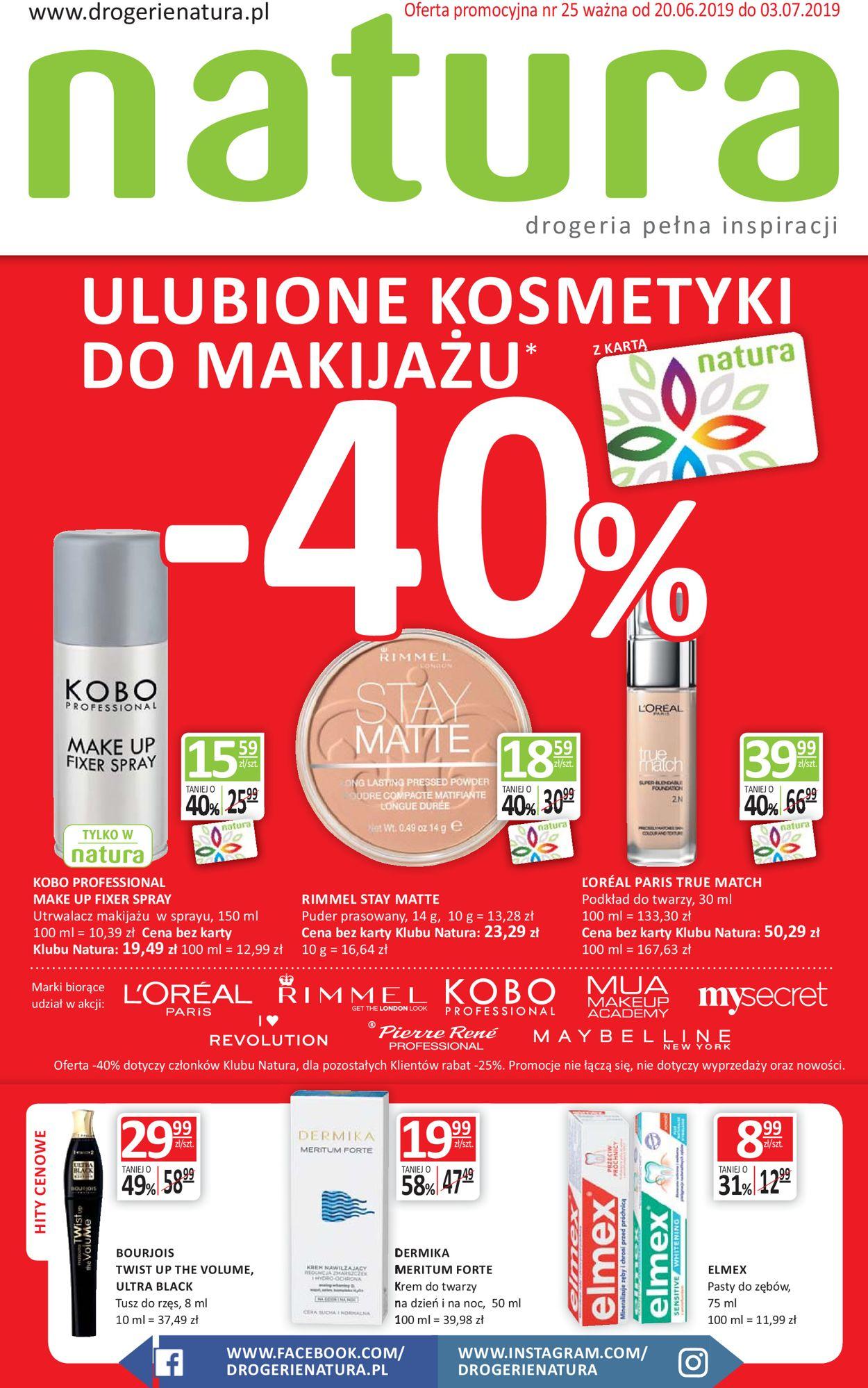 Gazetka promocyjna Natura - 20.06-03.07.2019