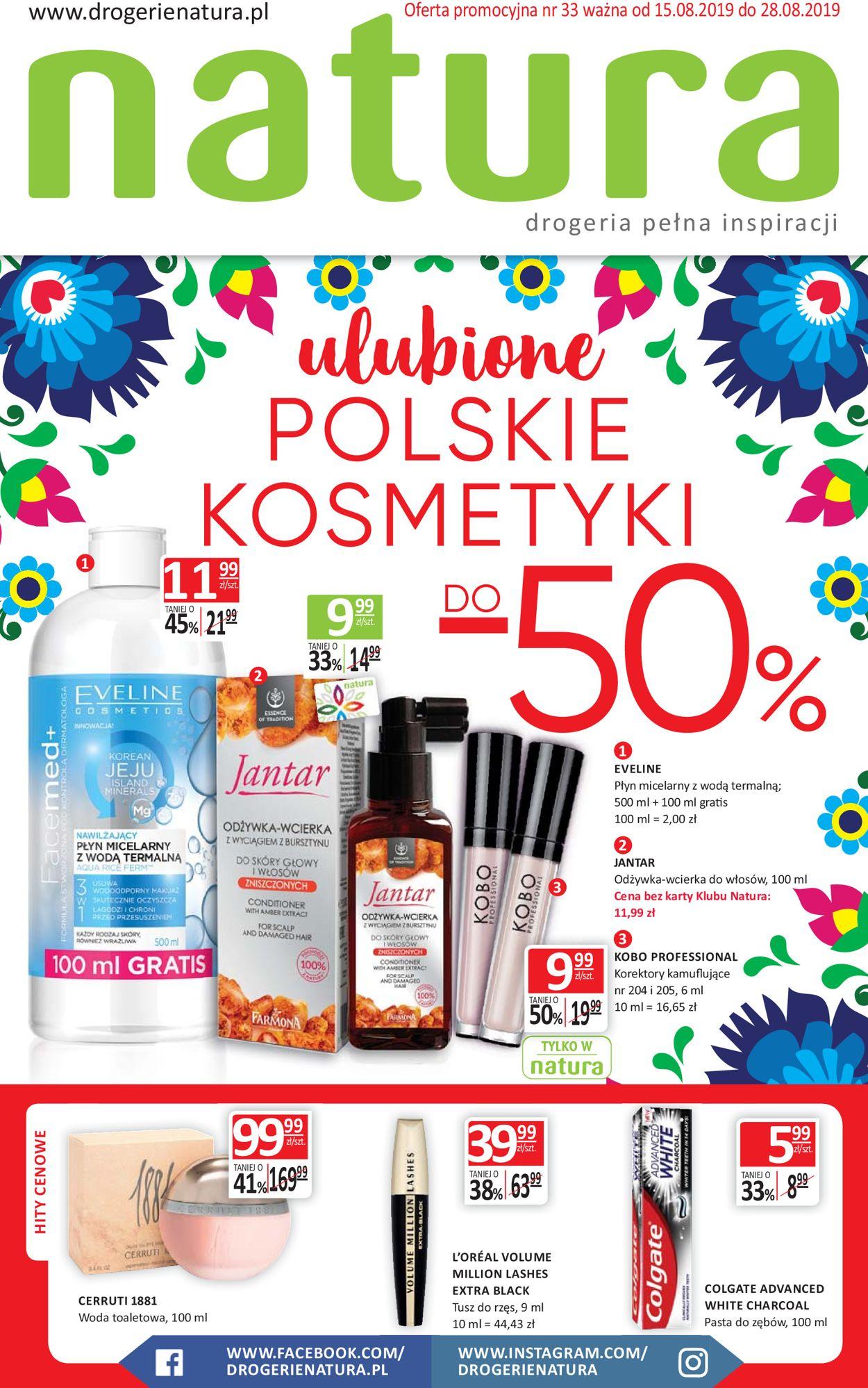 Gazetka promocyjna Natura - 15.08-28.08.2019