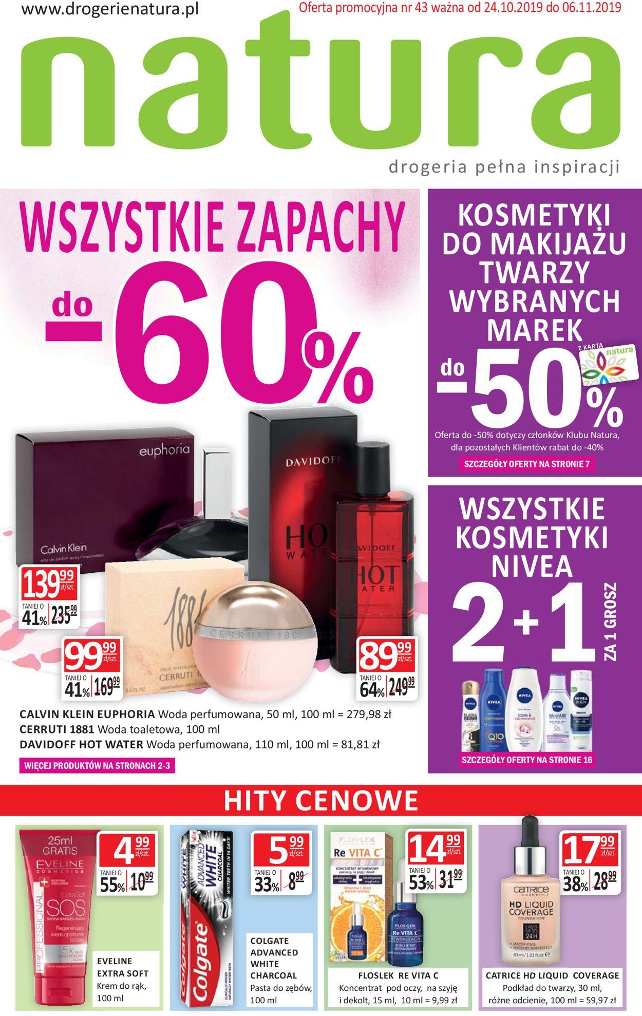 Gazetka promocyjna Natura - 24.10-06.11.2019