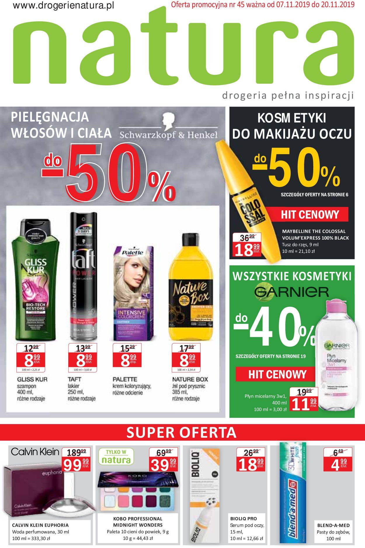 Gazetka promocyjna Natura - 07.11-20.11.2019