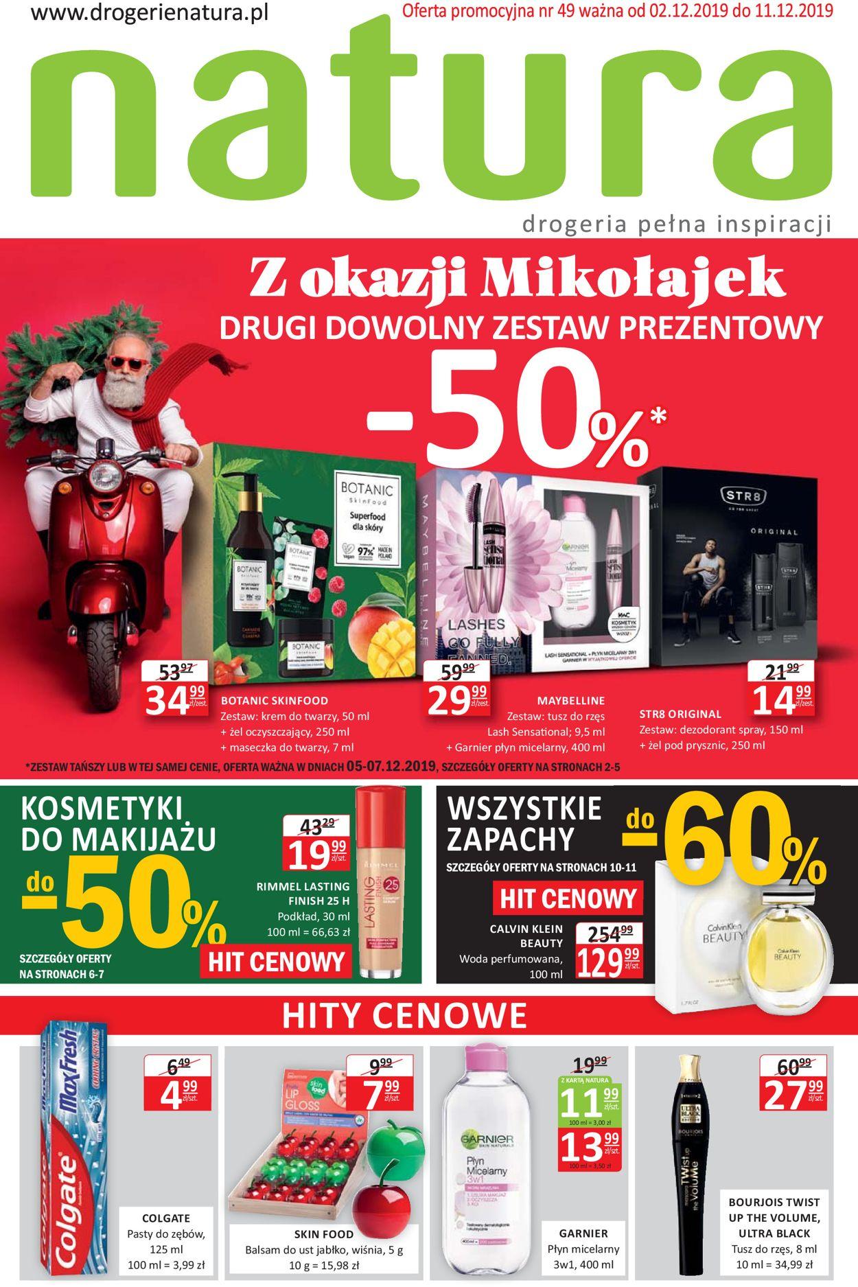 Gazetka promocyjna Natura - Gazetka Mikołajkowa 2019 - 02.12-11.12.2019