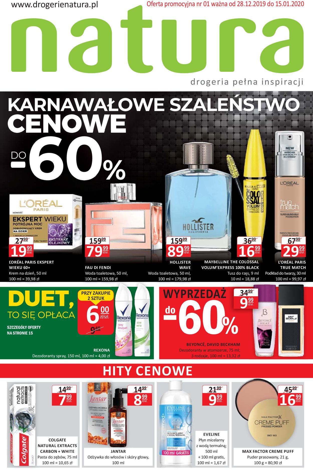 Gazetka promocyjna Natura - 28.12-15.01.2020