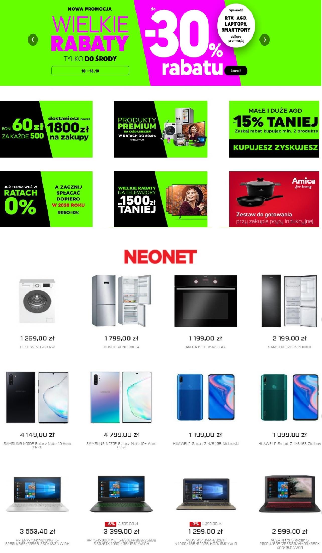 Gazetka promocyjna Neonet - 11.10-18.10.2019