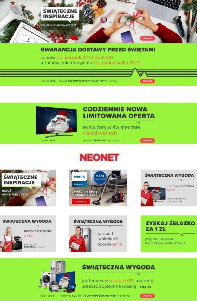Gazetka promocyjna Neonet Gazetka Świąteczna 2019 - 13.12-20.12.2019