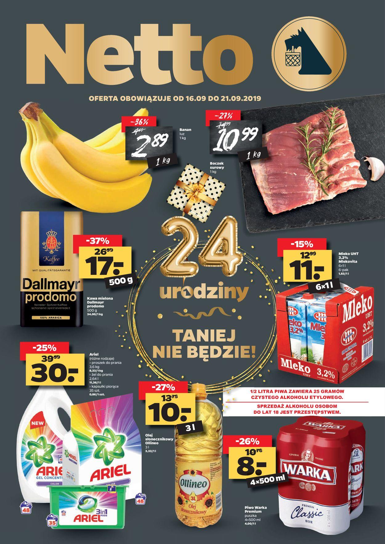Gazetka promocyjna Netto - 16.09-21.09.2019
