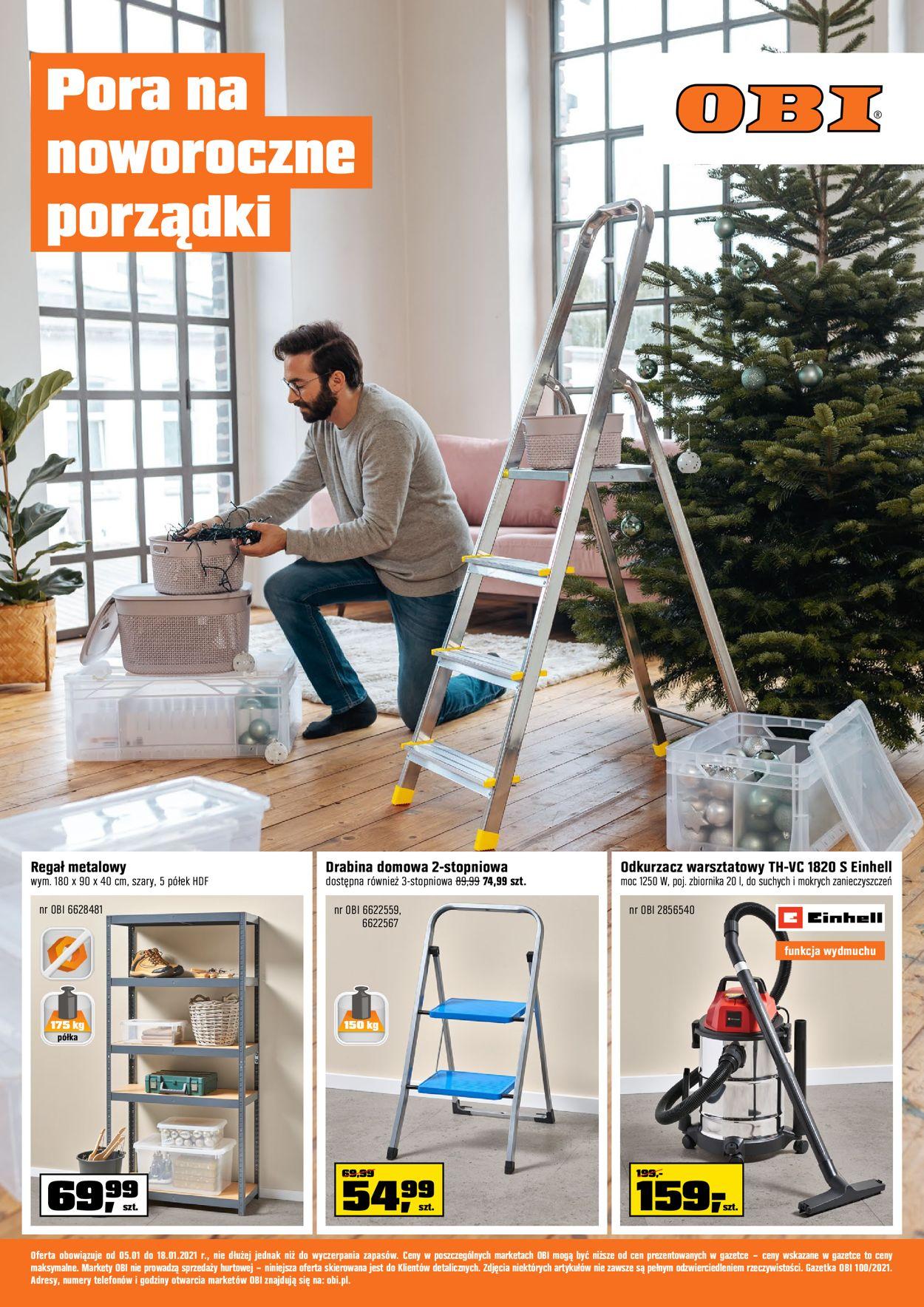 Gazetka promocyjna Obi - 05.01-18.01.2021