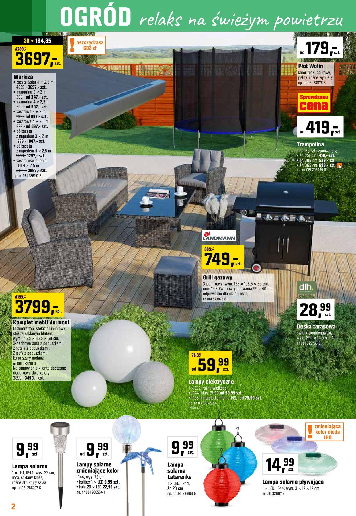 Gazetka promocyjna Obi - 22.05-18.06.2019 (Strona 2)