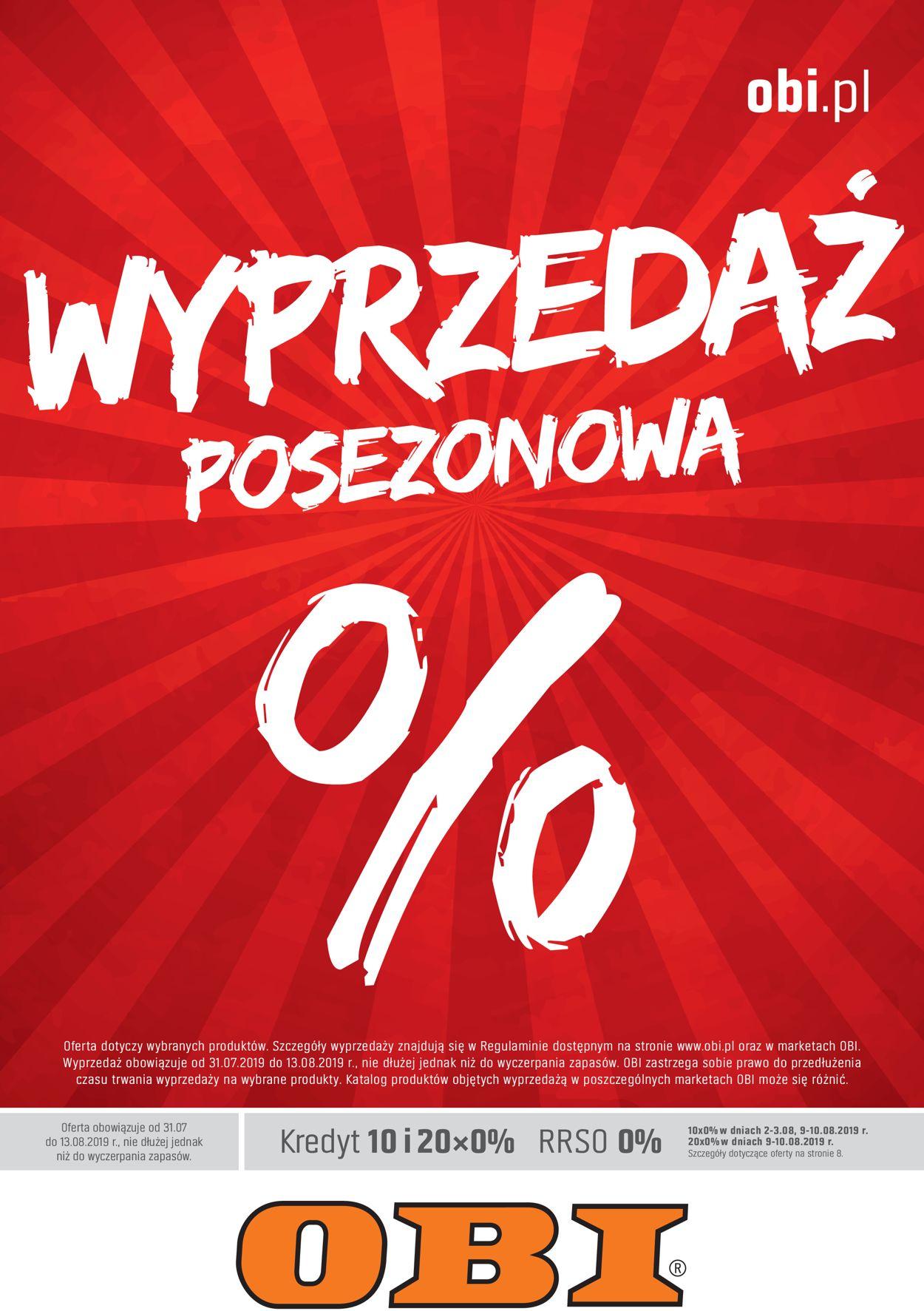 Gazetka promocyjna Obi - 31.07-13.08.2019