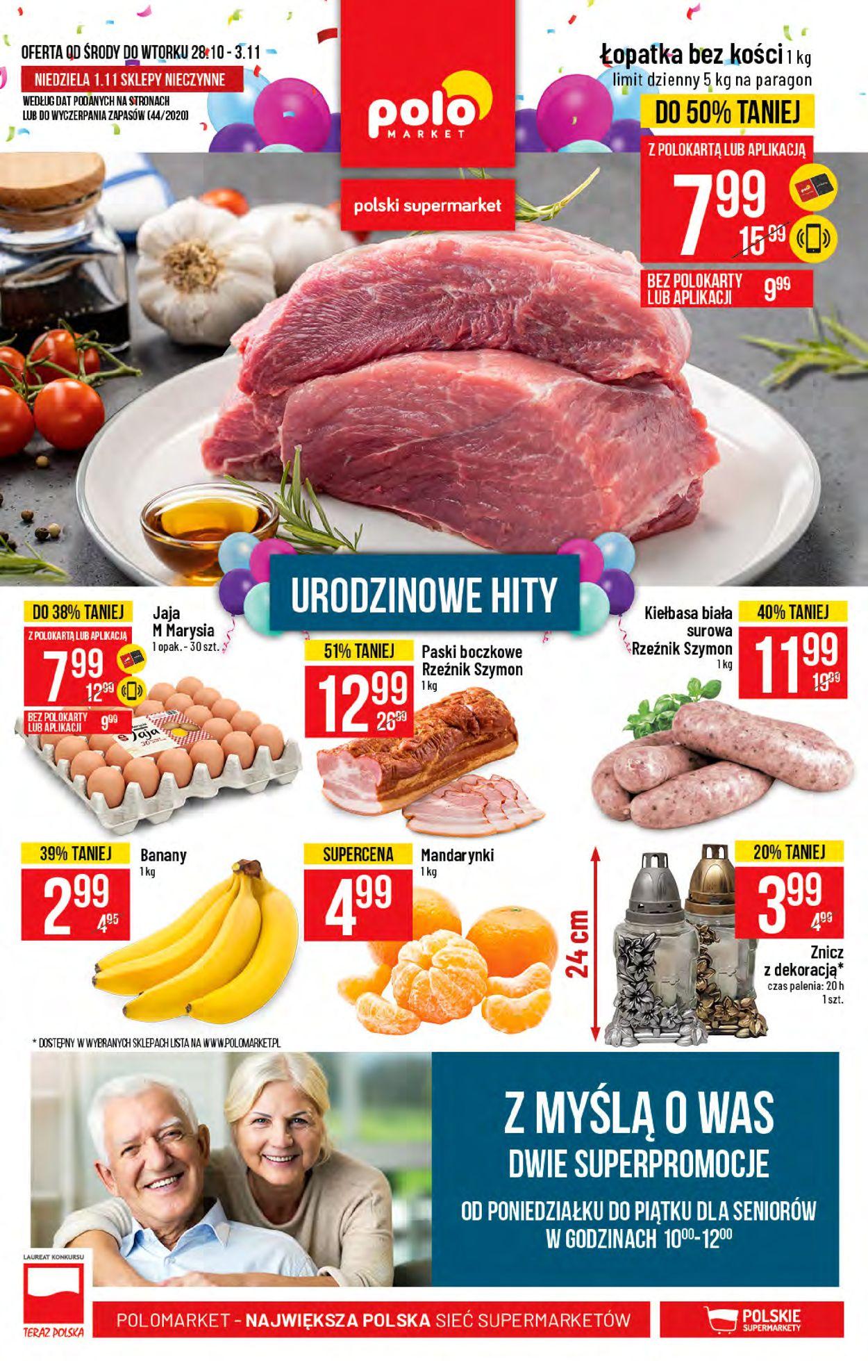 Gazetka promocyjna Polomarket - 28.10-03.11.2020