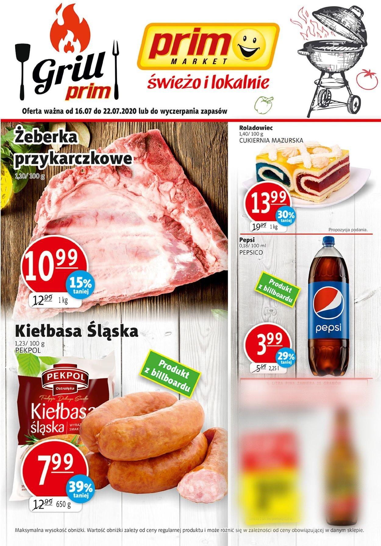 Gazetka promocyjna prim MARKET - 16.07-22.07.2020