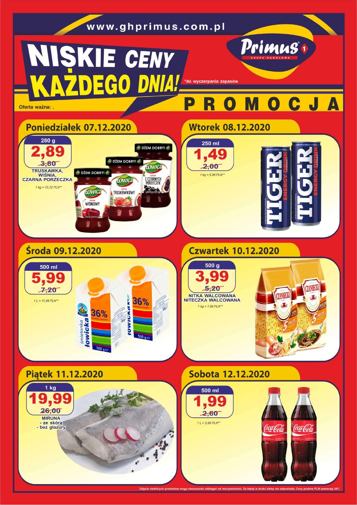 Gazetka promocyjna Primus - 07.12-12.12.2020
