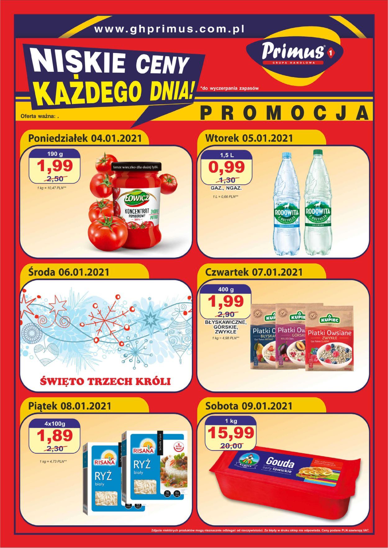 Gazetka promocyjna Primus - 04.01-09.01.2021