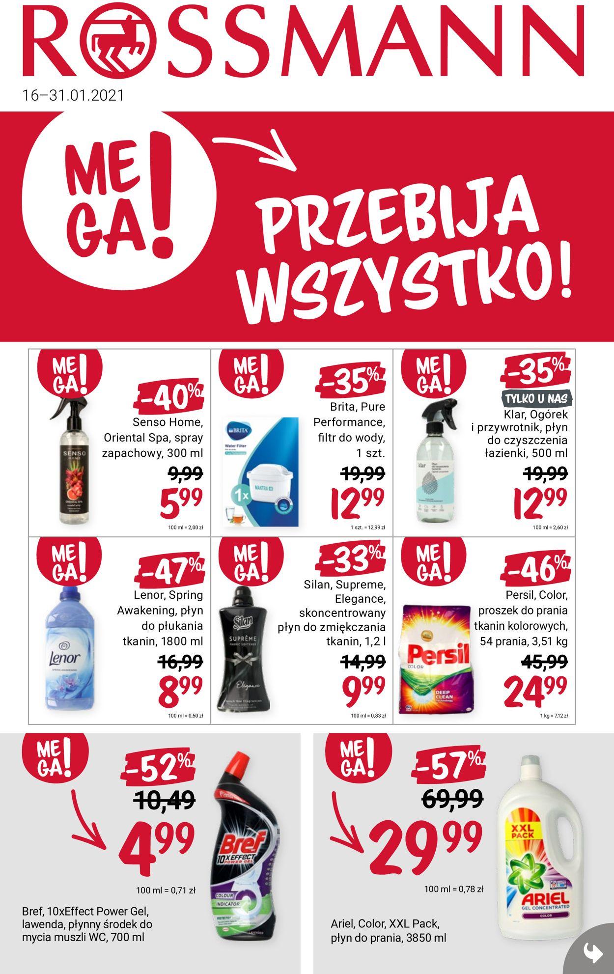 Gazetka promocyjna Rossmann - 16.01-31.01.2021