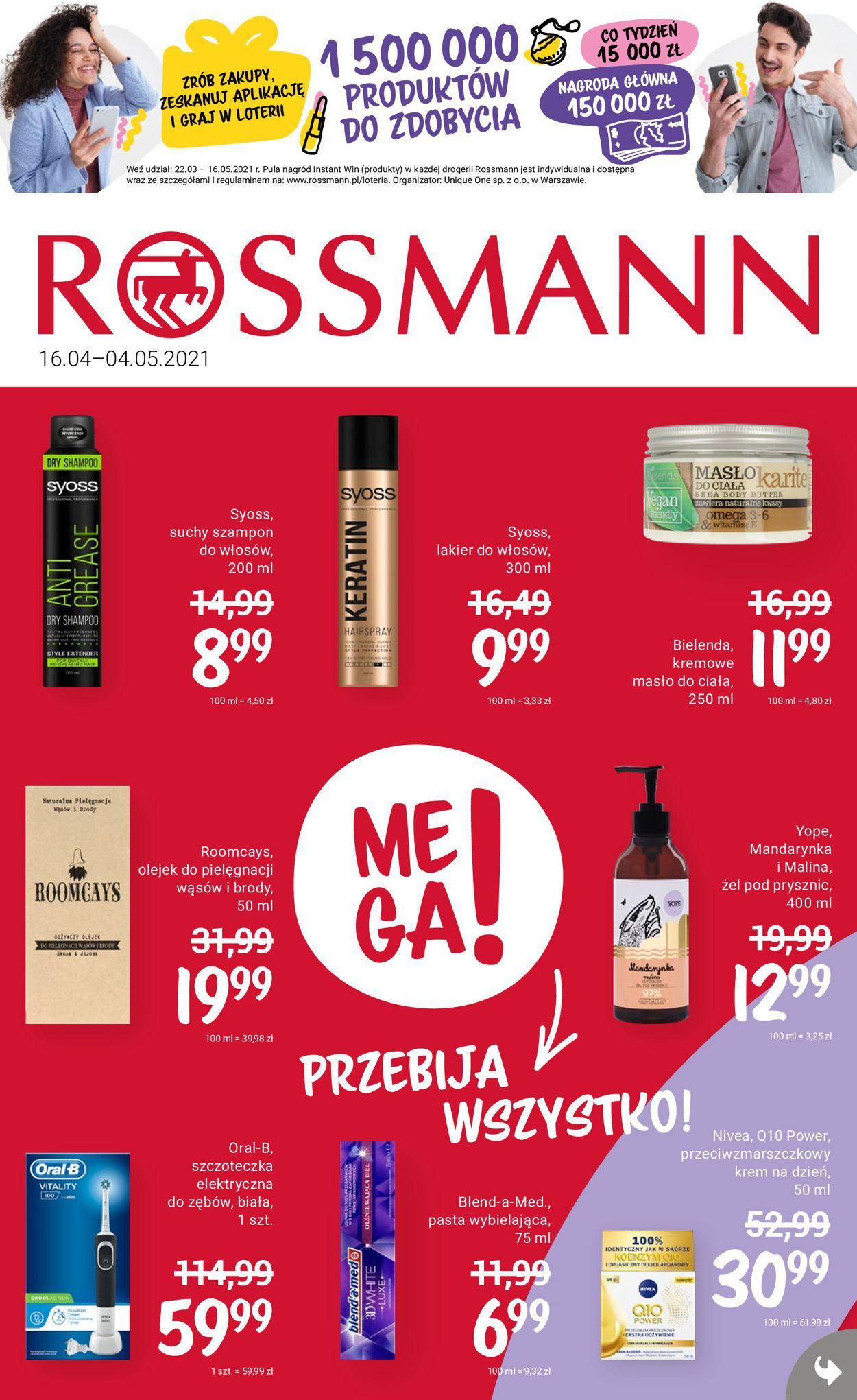 Gazetka promocyjna Rossmann - 16.04-04.05.2021