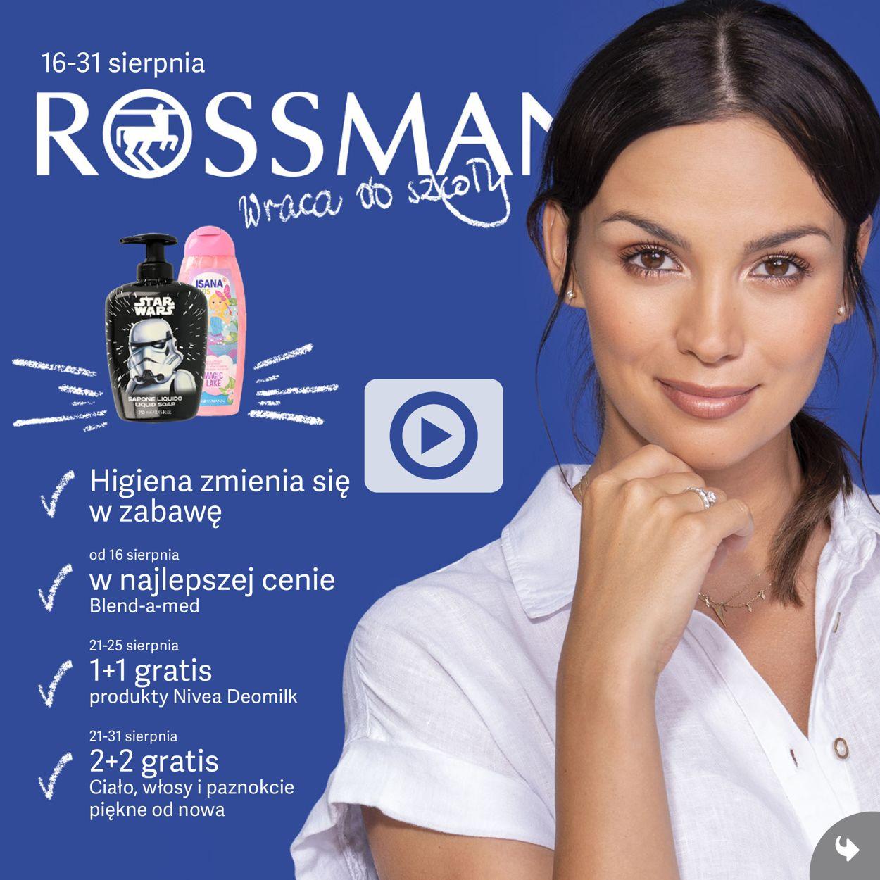 Gazetka promocyjna Rossmann - 16.08-31.08.2019