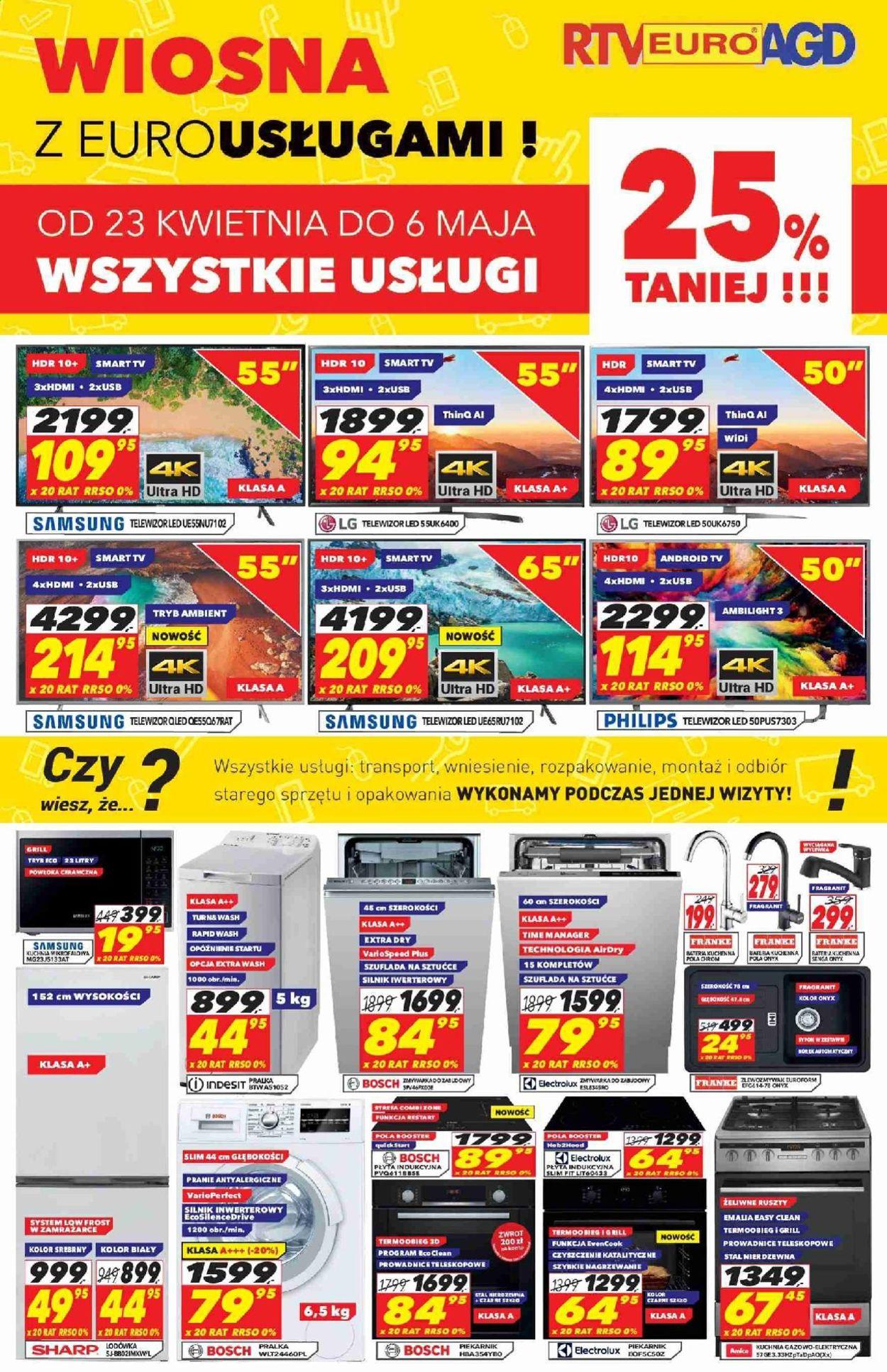 Gazetka promocyjna RTV Euro AGD - 23.04-06.05.2019