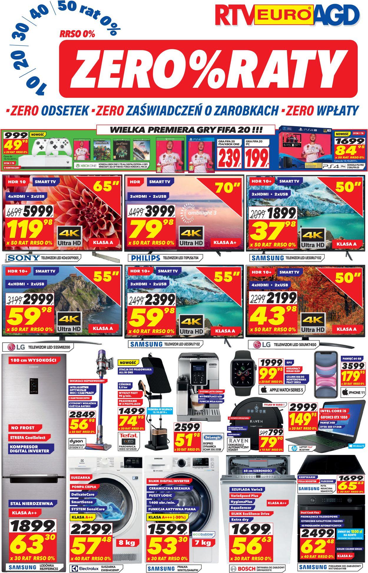 Gazetka promocyjna RTV Euro AGD - 01.10-30.10.2019