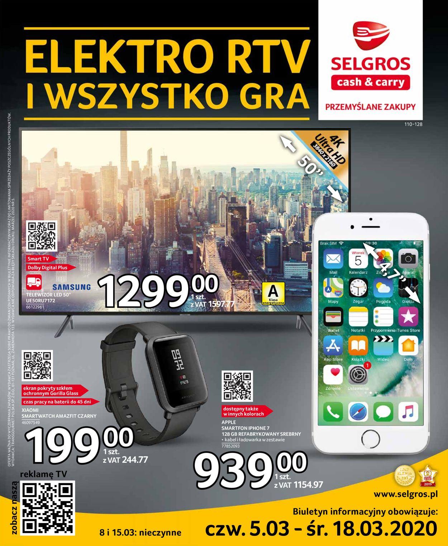 Gazetka promocyjna Selgros - 05.03-18.03.2020
