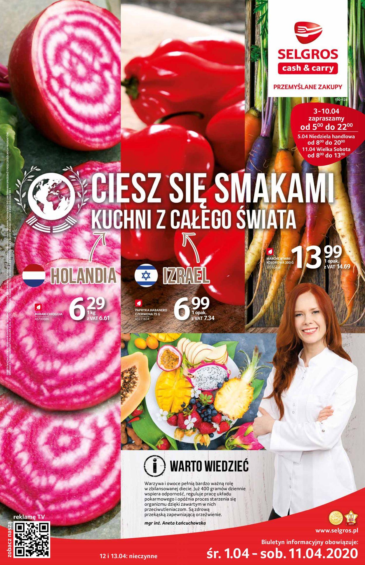 Gazetka promocyjna Selgros - 01.04-11.04.2020