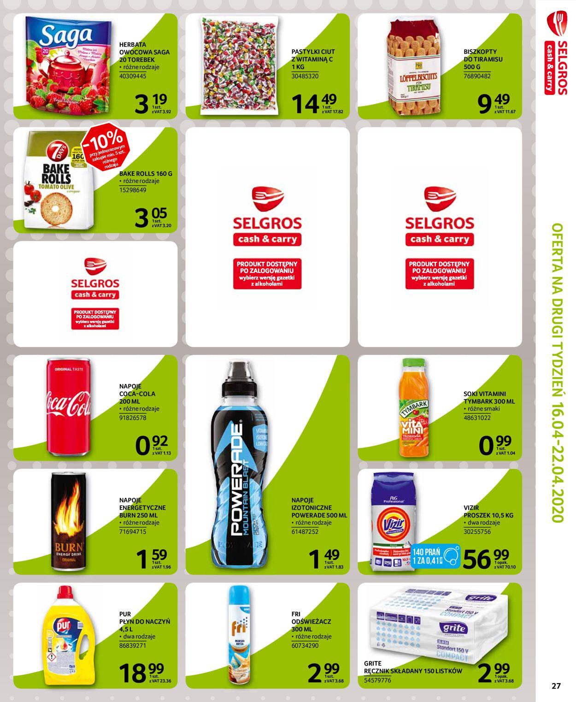 Gazetka promocyjna Selgros - 14.04-22.04.2020 (Strona 22)