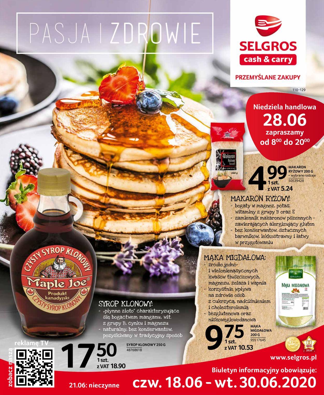 Gazetka promocyjna Selgros - 18.06-30.06.2020