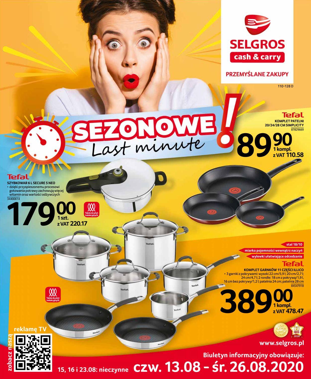 Gazetka promocyjna Selgros - 13.08-26.08.2020