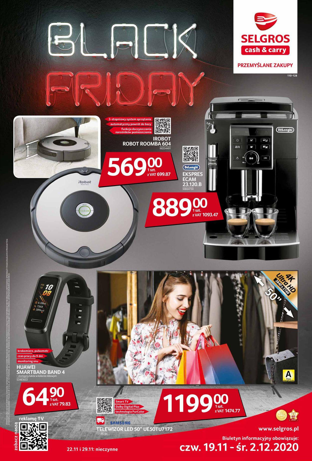 Gazetka promocyjna Selgros - Black Friday 2020 - 19.11-02.12.2020