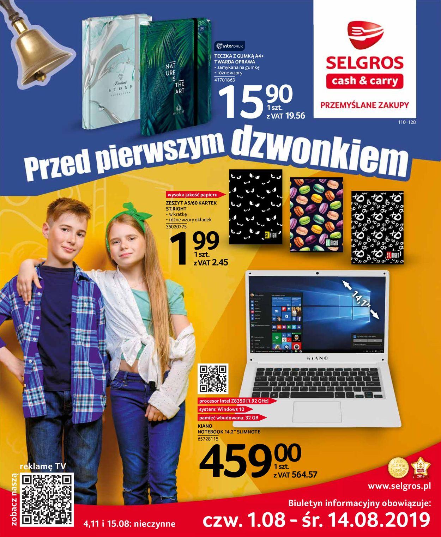 Gazetka promocyjna Selgros - 01.08-14.08.2019