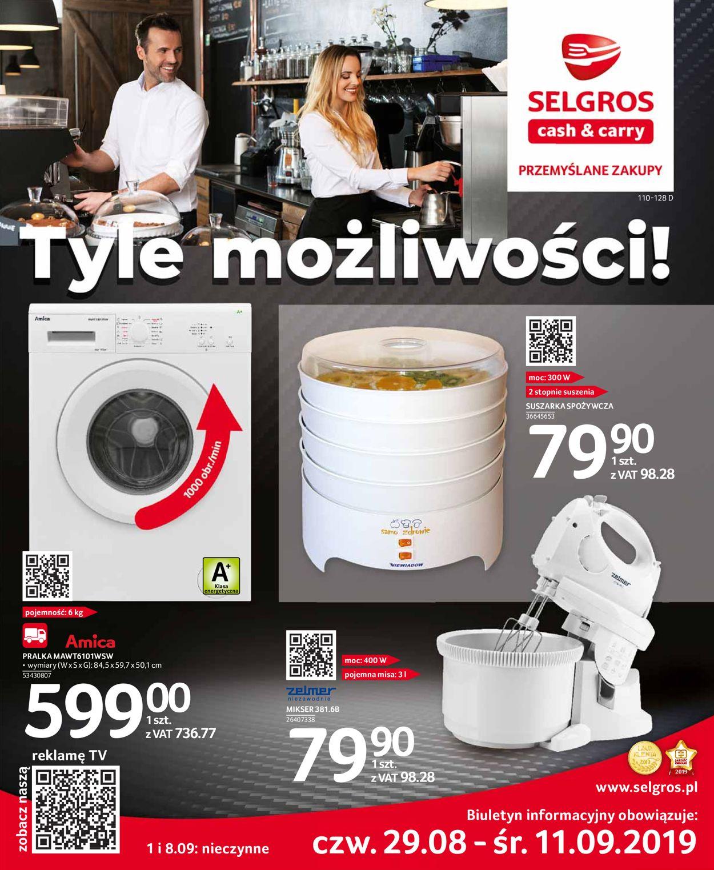 Gazetka promocyjna Selgros - 29.08-11.09.2019