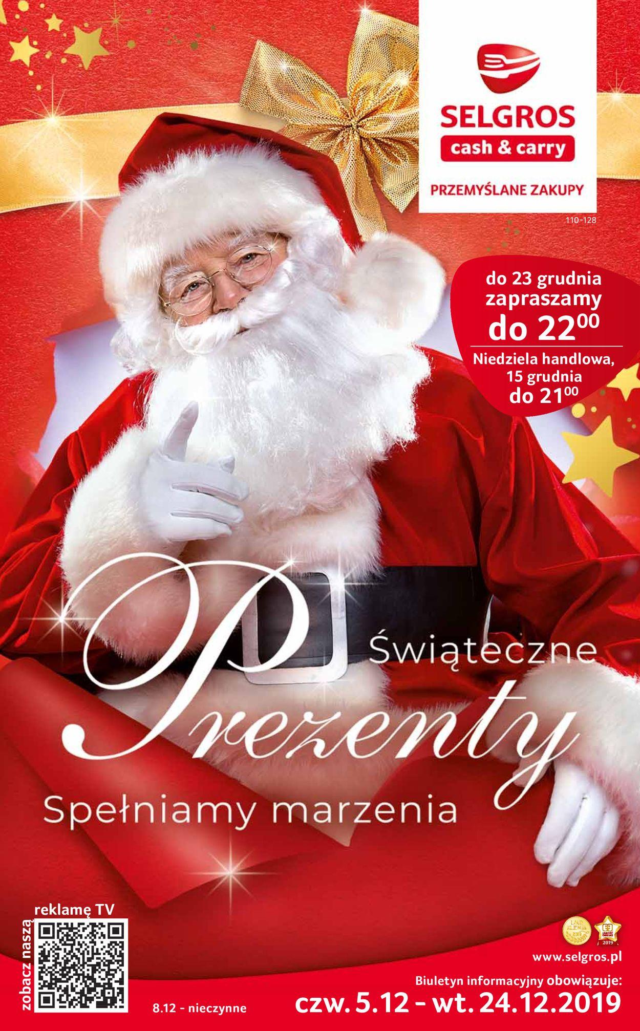 Gazetka promocyjna Selgros - Gazetka Świąteczna 2019 - 05.12-24.12.2019