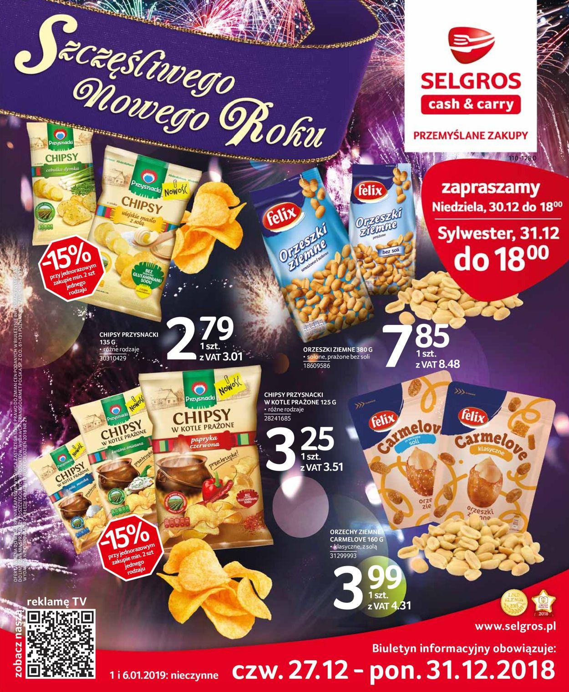 Gazetka promocyjna Selgros - Gazetka Sylwestrowa 2019 - 27.12-31.12.2019