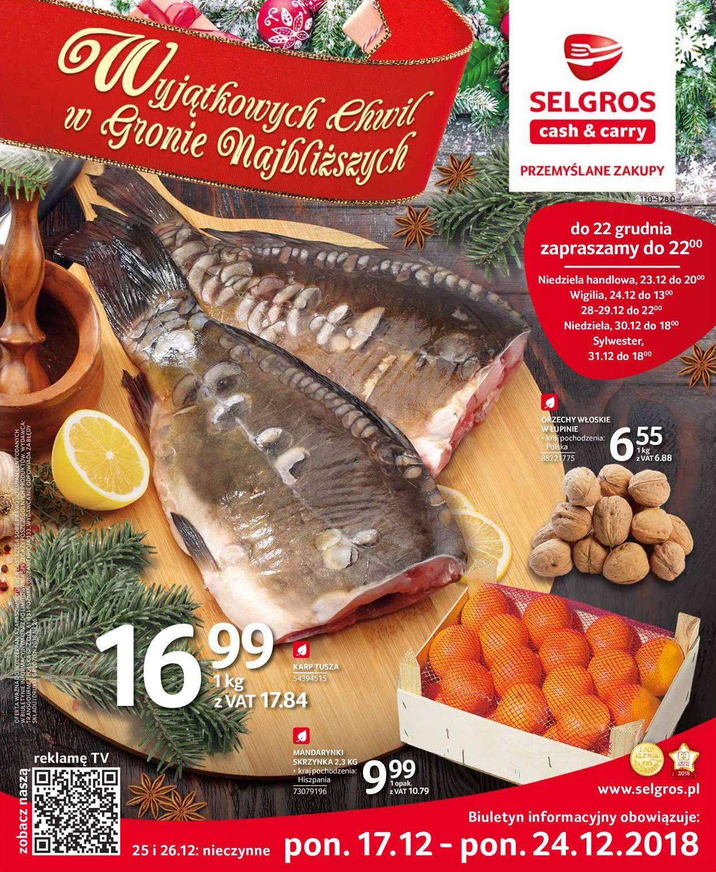 Gazetka promocyjna Selgros - Gazetka Świąteczna 2019 - 17.12-24.12.2019