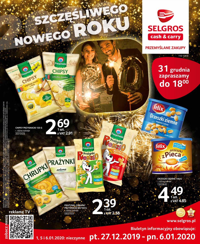 Gazetka promocyjna Selgros - Gazetka Noworoczna 2019 - 27.12-06.01.2020