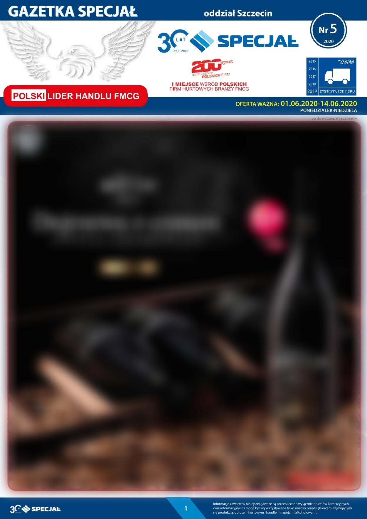 Gazetka promocyjna Specjał - 01.06-14.06.2020