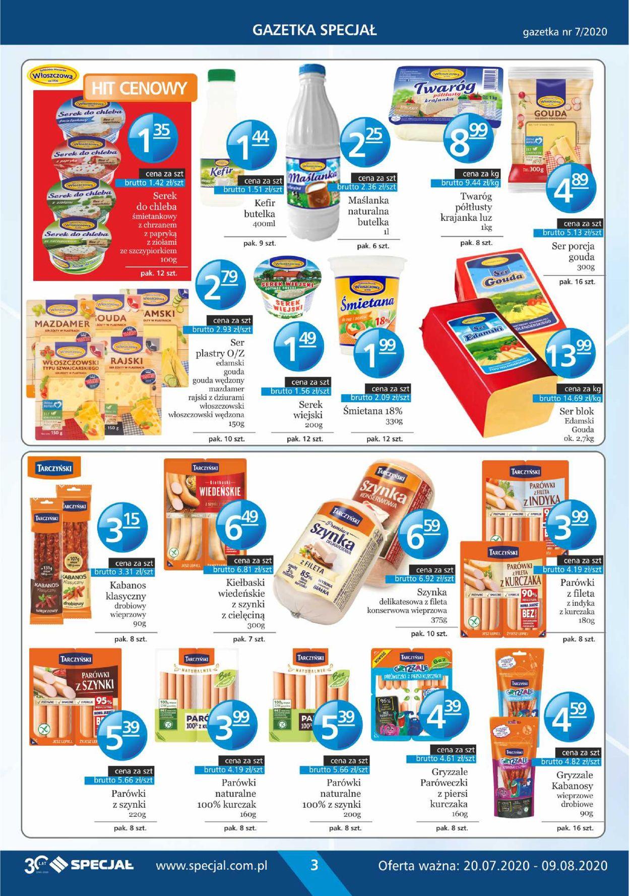 Gazetka promocyjna Specjał - 20.07-09.08.2020 (Strona 3)