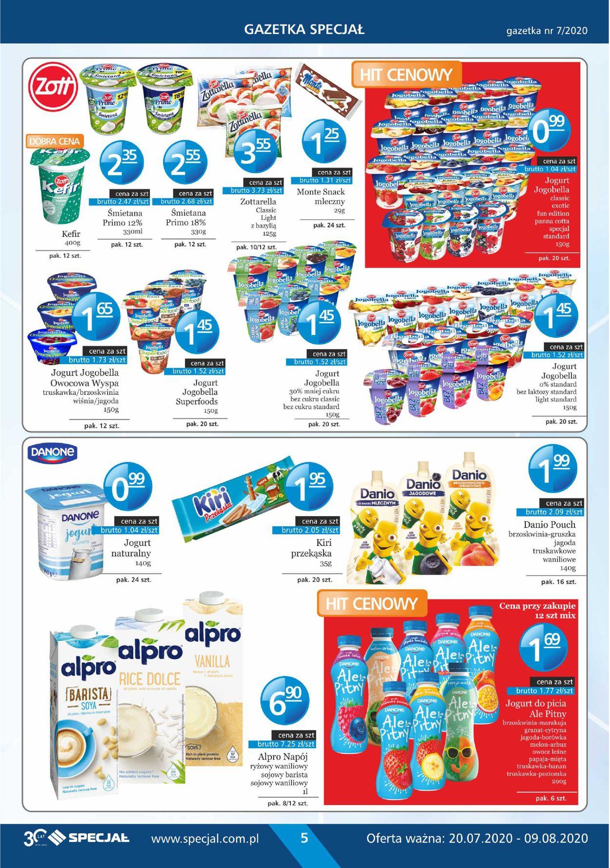 Gazetka promocyjna Specjał - 20.07-09.08.2020 (Strona 5)