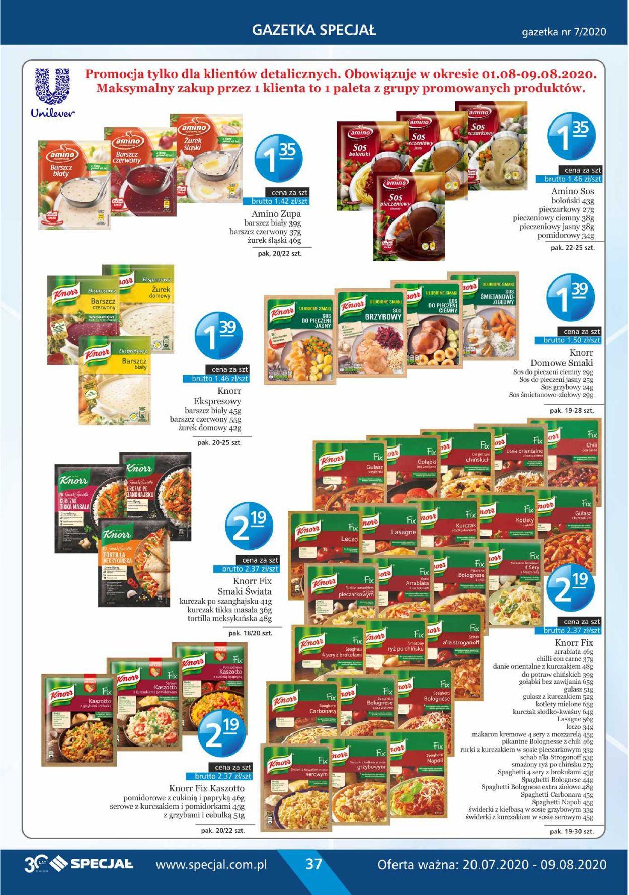 Gazetka promocyjna Specjał - 20.07-09.08.2020 (Strona 37)