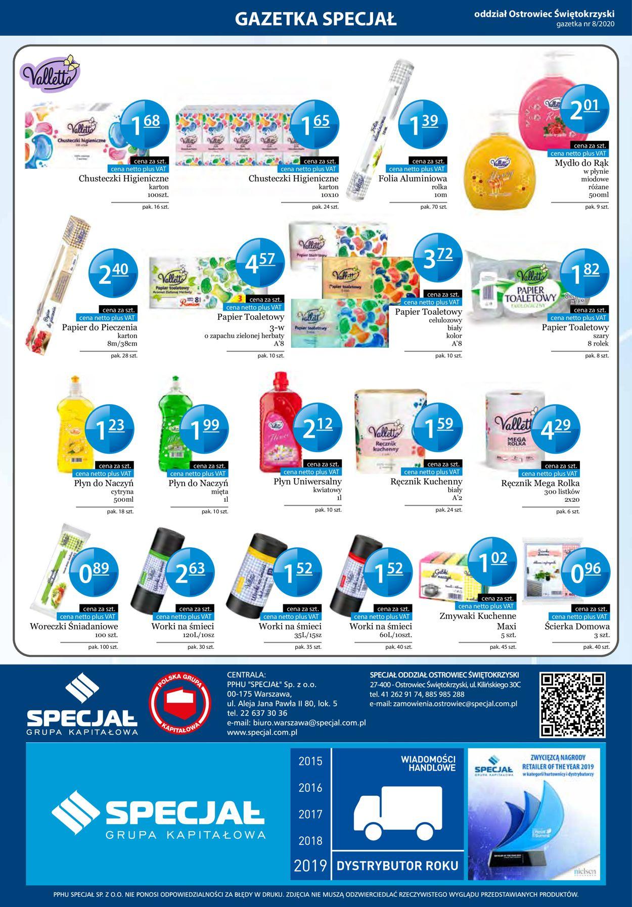 Gazetka promocyjna Specjał - 10.08-30.08.2020 (Strona 32)