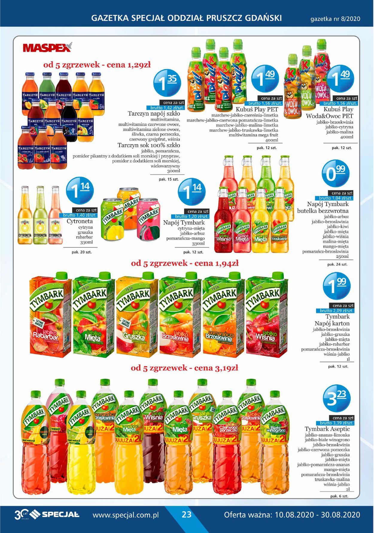 Gazetka promocyjna Specjał - 10.08-30.08.2020 (Strona 23)