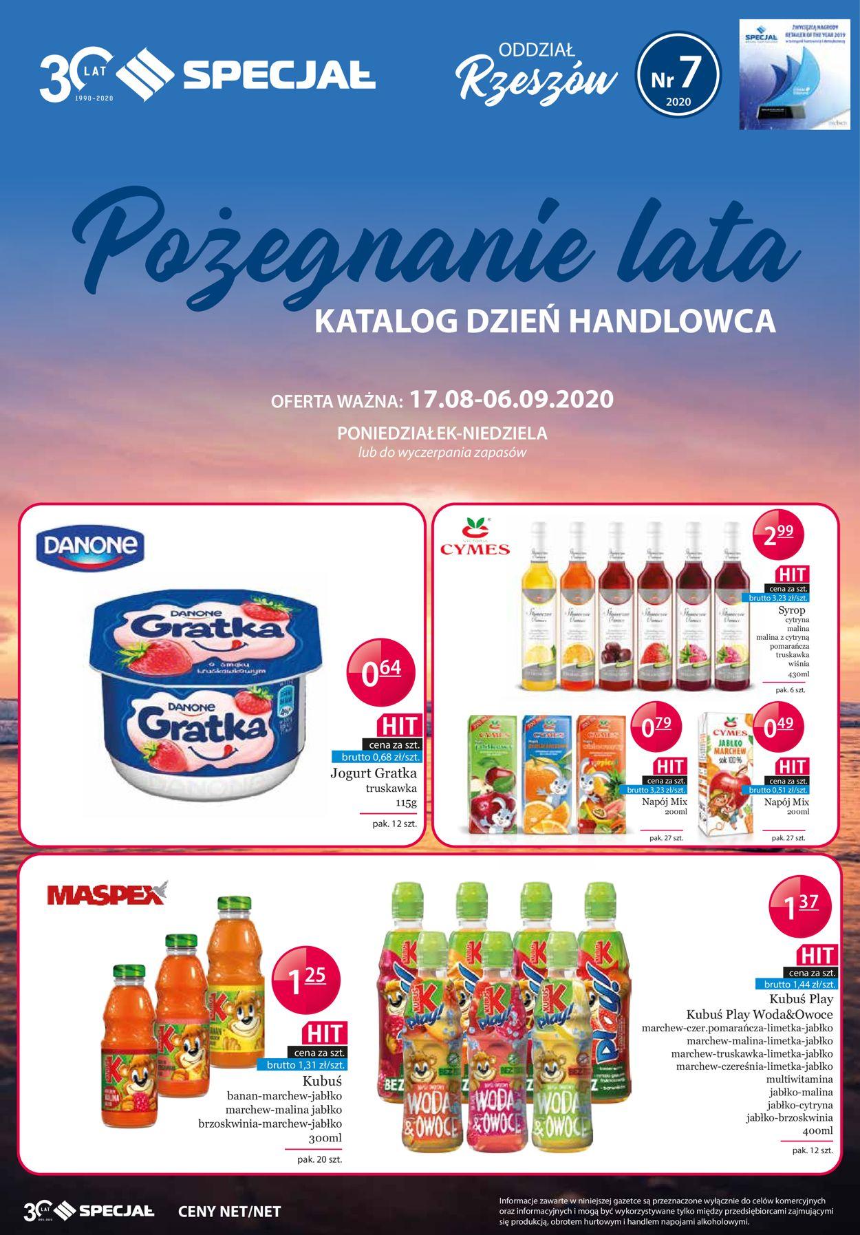 Gazetka promocyjna Specjał - 17.08-06.09.2020
