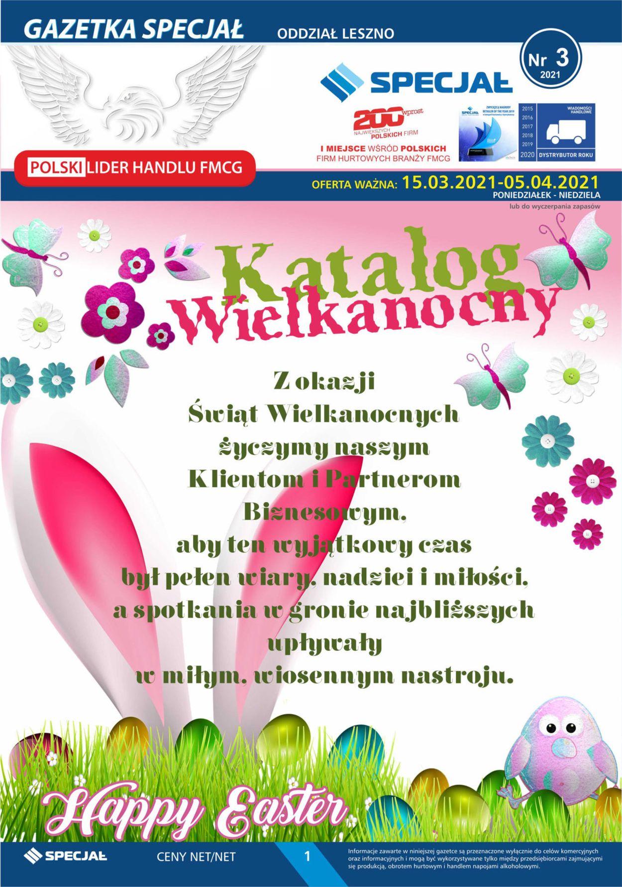 Gazetka promocyjna Specjał Katalog Wielkanocny 2021 - Oddział Leszno - 15.03-05.04.2021