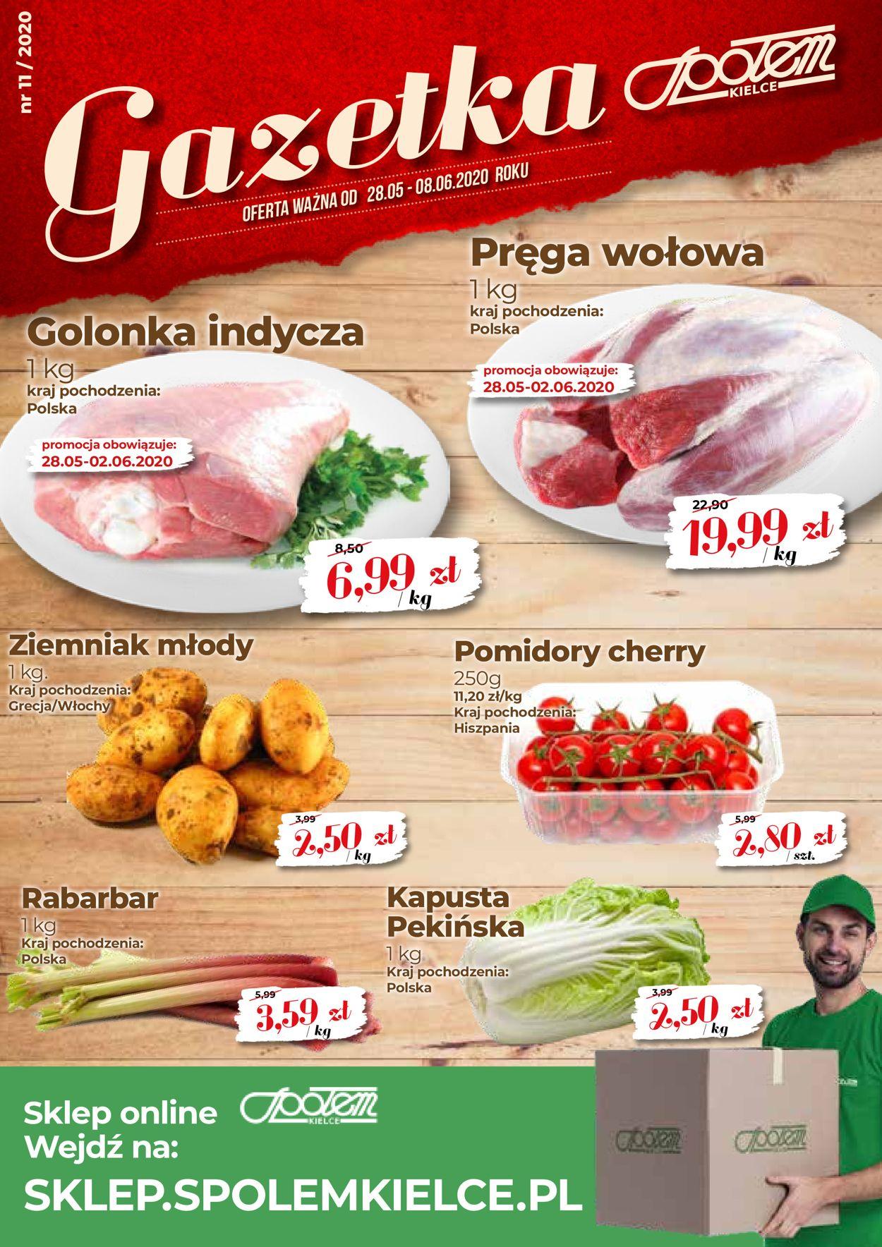 Gazetka promocyjna Społem - 28.05-08.06.2020