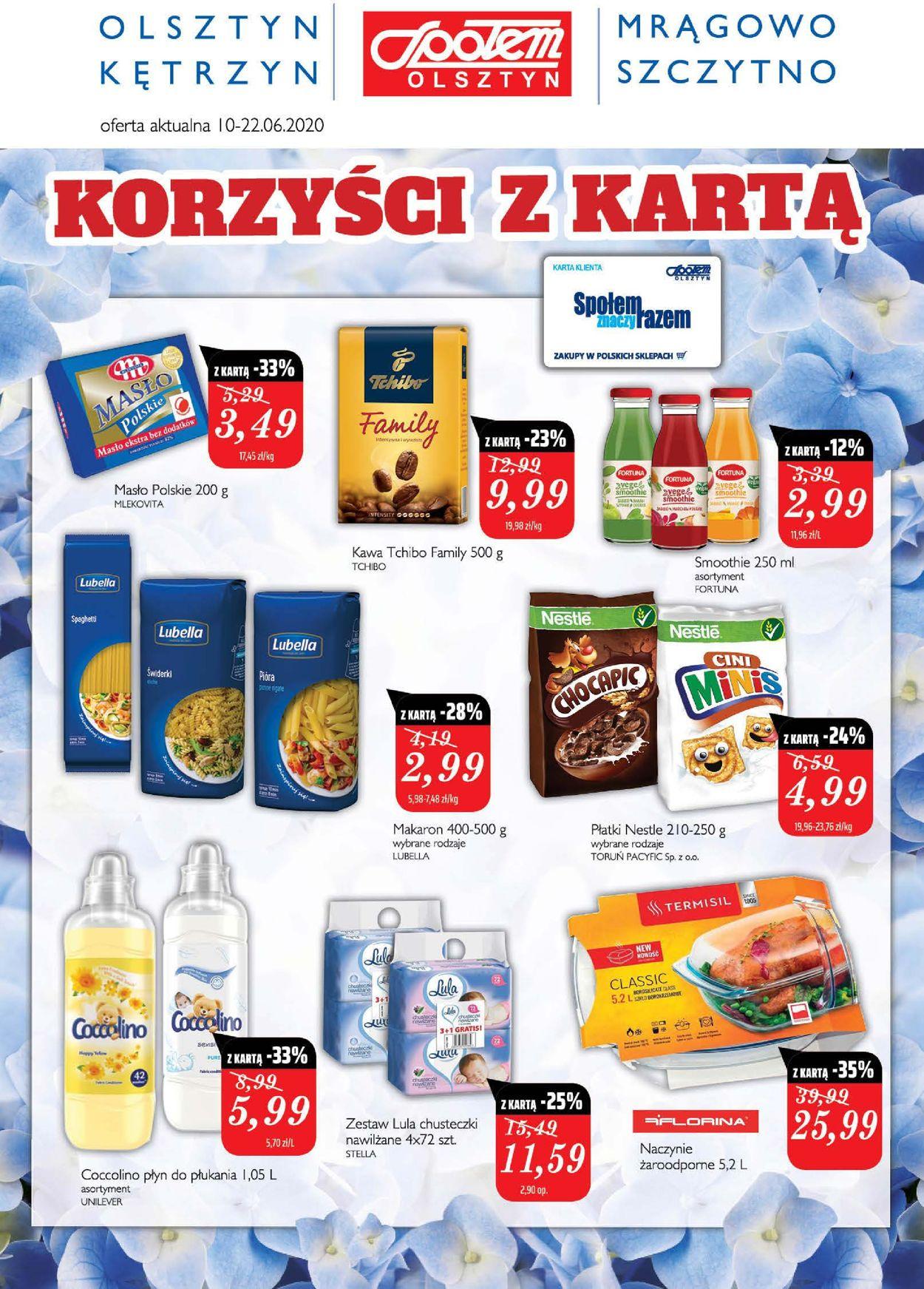 Gazetka promocyjna Społem - 10.06-22.06.2020
