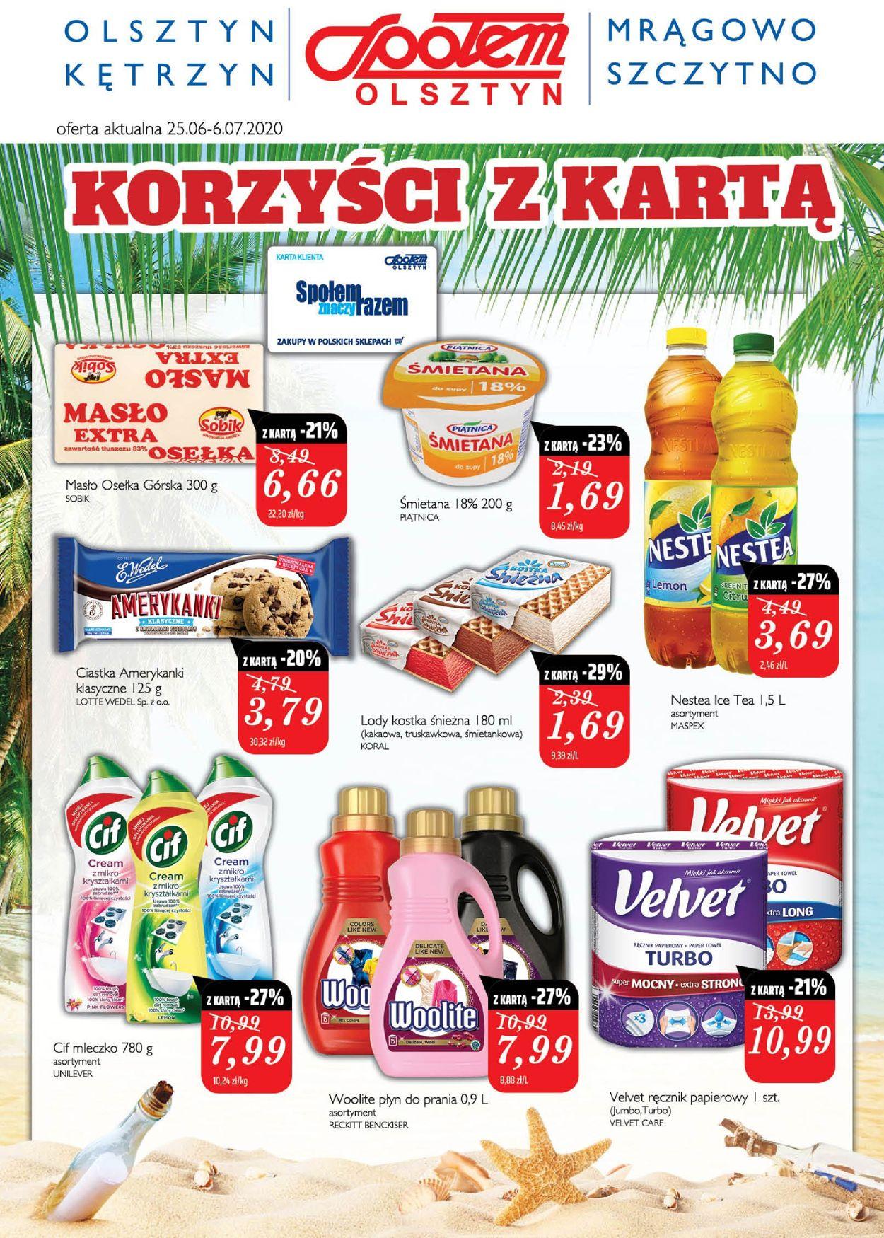 Gazetka promocyjna Społem - 25.06-06.07.2020