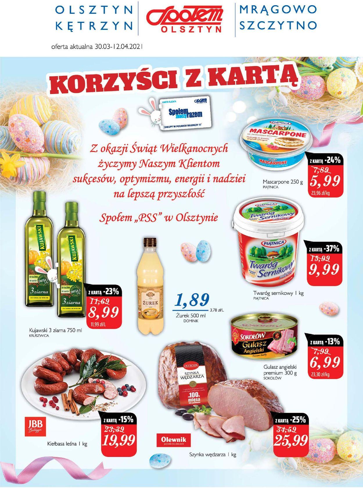 Gazetka promocyjna Społem Wielkanoc 2021! - 30.03-12.04.2021