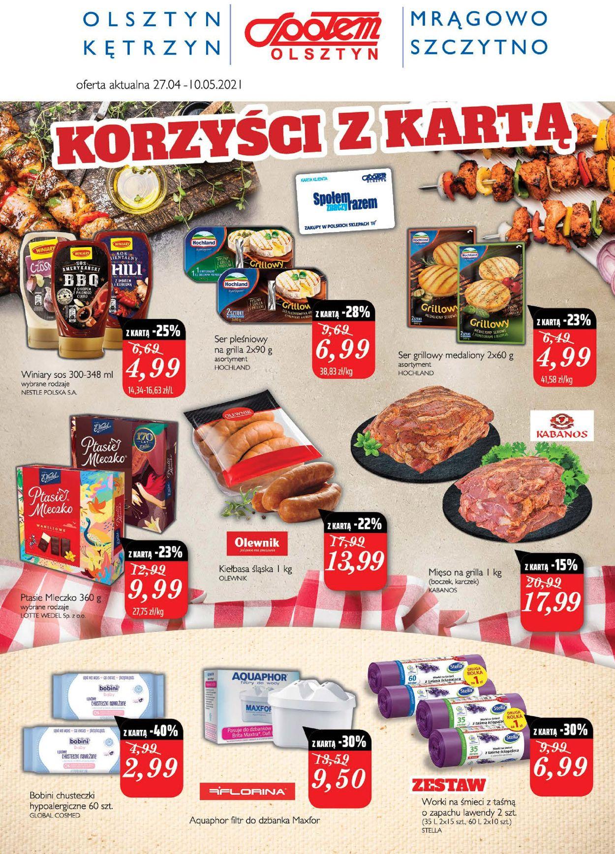 Gazetka promocyjna Społem - 27.04-10.05.2021